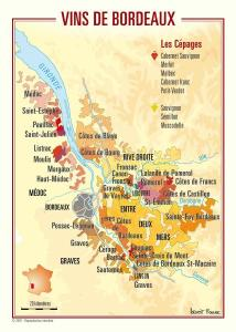 Map of Bordeaux wines
