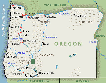 Oregon State Wine Maps Oregon Coast Wineries Oregon Ava Map - Google maps oregon